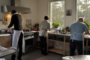 keuken in gebruik